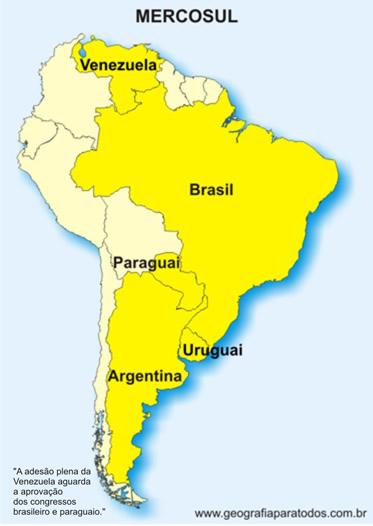 Mapa do Mercosul